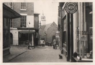 Original photograph of Chapel Place looking south circa 1960.