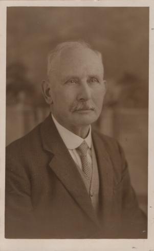 Postcard of Reuben Hall, founder of Hall's Bookshop circa 1932.