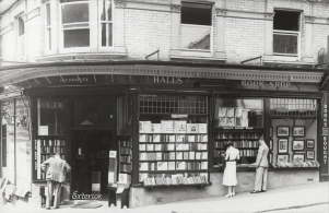 Original photograph of Hall's Bookshop in the 1940s.