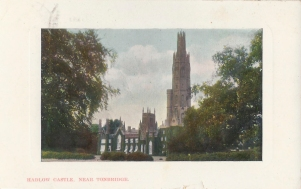 Postcard of Hadlow Castle circa 1914.