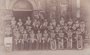 Postcard of a Salvation Army Band at Tunbridge Wells, circa 1914.