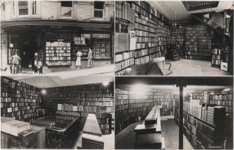Hall's Bookshop postcard circa 1940s.