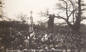 Postcard of the unveiling of the Southborough War Memorial, 13th February 1921.