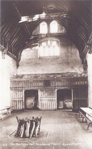 Postcard of the Baron's Hall, Penshurst Place.
